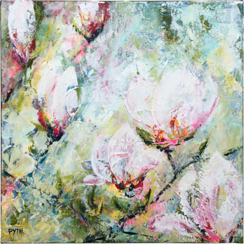 40x40cm 2018 Hello-Spring Morning-Magnolia