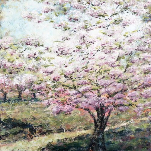 100x100cm_2020_Hello_Spring_Blooming_Apple_Tree_NY